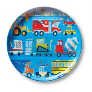 Busy City Big Kid Plate