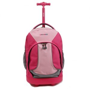 J world Rolling Backpack Pink