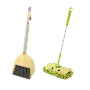 Broom, Dustpan and Mop Set Green
