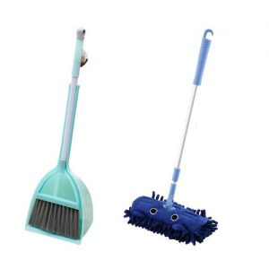 Broom, Dustpan and Mop Set Blue