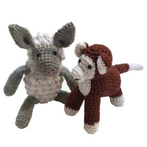 Crochet Sheep & Monkey