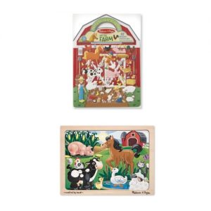 Farm Puffy Sticker & 12 Pc Puzzle