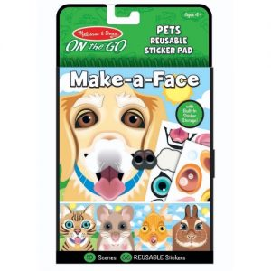 On the Go Make-a-Face Pets Reusable Sticker Pad
