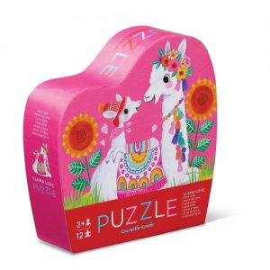 12Pc Mini Puzzle Llama Love