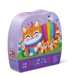12Pc Mini Puzzle Cuddly Cat
