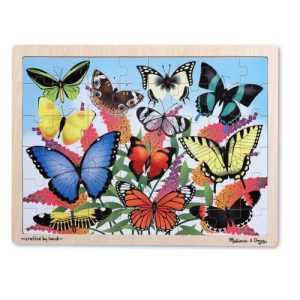 Butterfly Garden Wooden Jigsaw Puzzle (48 pc)