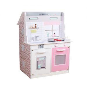 Dollhouse & Kitchen PINK 2 in 1 (55 x 45 x 90 cm) Pastel