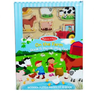 Book & Puzzle Play Set : On the Farm